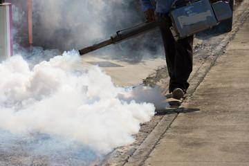 Fogging DDT spray kill mosquito Wall mural
