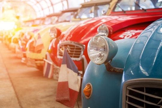 Classic car's front headlight design