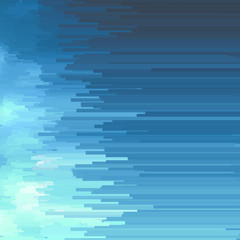 blue digital glitch background, vector illustration