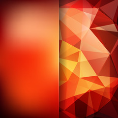 Abstract polygonal vector background. Colorful geometric vector illustration. Creative design template. Abstract vector background for use in design. Yellow, orange, brown colors.
