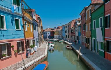 Colorful Burano village at Venice, Italy