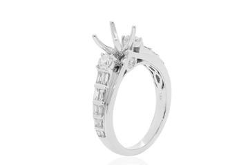 anillo con diamantes en oro blanco  joyeria de bodas