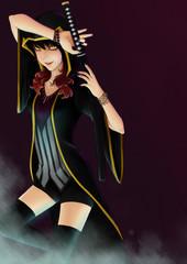 Character design of girl.