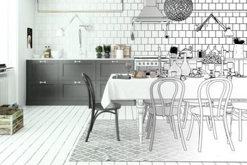 Kitchen Arrangement (drawing)