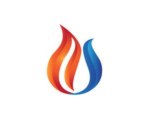 Fire Ice Logo Vector