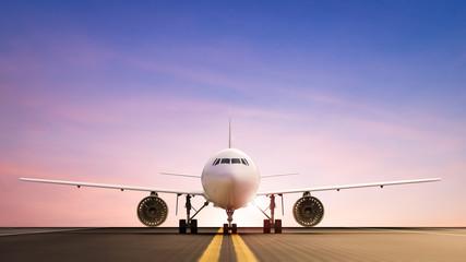 Keuken foto achterwand Vliegtuig airplane on runway