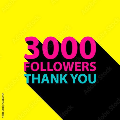 3000 followers thank you card template for social networks 3000 followers thank you card template for social networks promotion and advertising vector pronofoot35fo Images