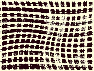 Abstract grunge vector background. Monochrome raster composition of irregular wavy graphic elements.