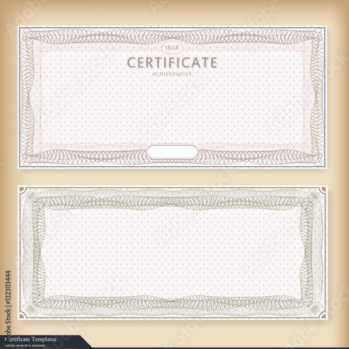 quotvintage certificate template with watermark ornate gift