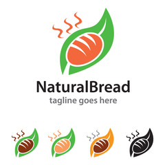 Natural Bread Logo Template Design Vector / Icon Design