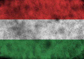 Grunge Hungary flag.