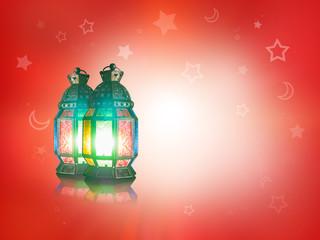 candle inside Lantern shining on the dark