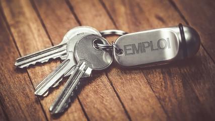 trousseau de clés : emploi