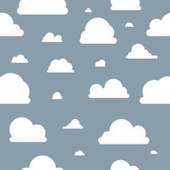 Wolken - Muster - Blau