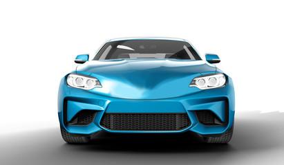 electric blue sedane car