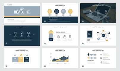 Infographics slide template 3