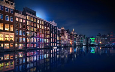 Aluminium Prints Amsterdam Amsterdam Windows Colors - Netherlands