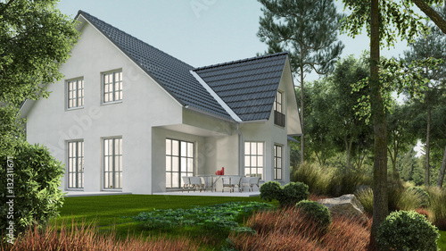 Klassisches einfamilienhaus im gr nen garten for Klassisches einfamilienhaus