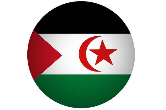 Western sahara flag illustration symbol. Africa