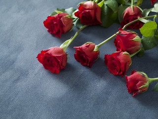Valentine's day or wedding background with red roses