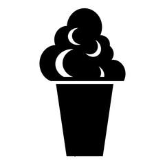 Ice cream icon, simple style
