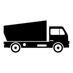 Lorry icon, simple style