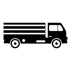 Truck with cargo icon, simple style