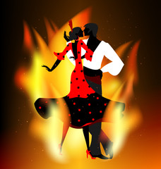 burning flamenco dance