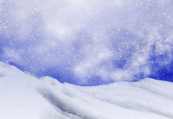 snowfall backgrounds of evening time