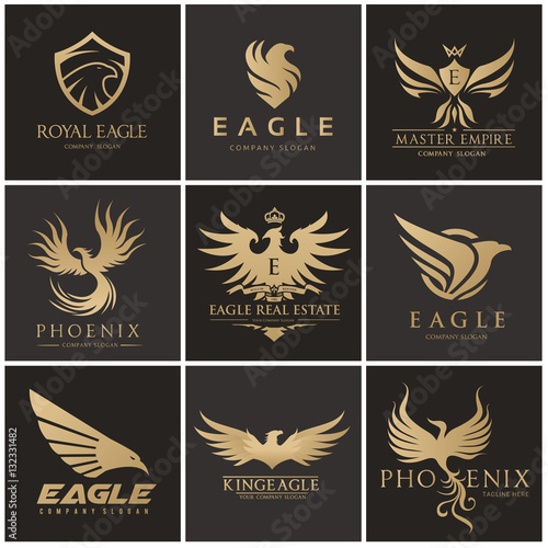 Bird And Wing Logo Collection Eagle Logo And Wing Symbolsbird Logo