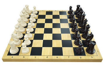 Game chess board and chess figures