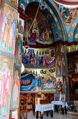 Interior of Greek Orthodox monastery of twelve apostles in Caper