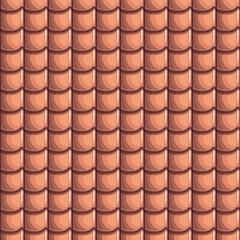 Cartoon Roof Tiles Seamless Background, collection texture
