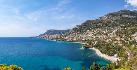 View to Monte Carlo and Larvotto Monaco and Roquebrune-Cap-Marti