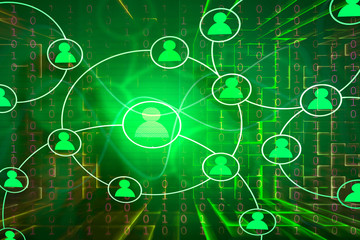 Hintergrund digital Netzwerk Business