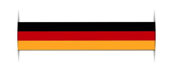 germany flag - short banner