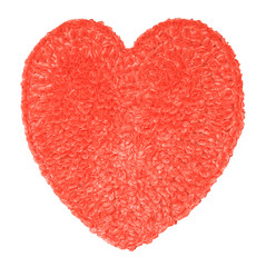 Heart shaped made from red cellophane