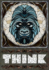 Gorilla motif, illustration