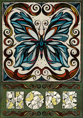 Butterfly motif, illustration