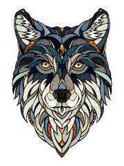 Wolf head, illustration