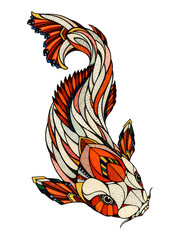 Koi, illustration