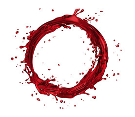 vector wine splash circle