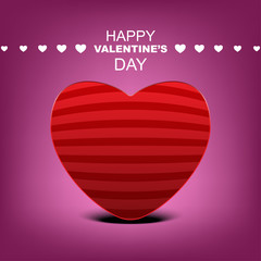 Happy Valentine's day poster design pink background theme