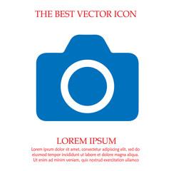 Camera vector. Photo camera icon.