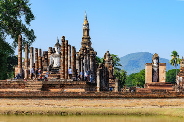 Wall Mural - sukhothai historical park in Thailand