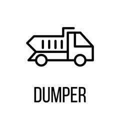 Dumper icon or logo in modern line style.