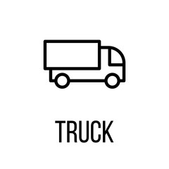 Truck icon or logo in modern line style