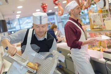 delicatessen shop workers