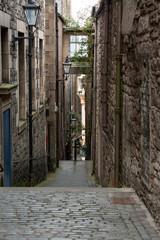 Spoed Foto op Canvas Oude verlaten gebouwen alley