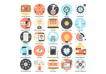 25 Detailed Circular Business Icons 3
